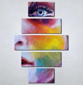 Slike na platnu Devojka i boje Nina016_5