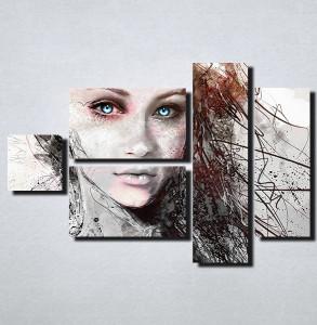 Slike na platnu Devojka sa plavim ocima Nina157_5