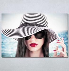 Slike na platnu Devojka sa šeširom Nina30365_P