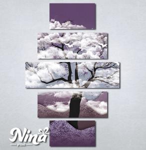 Slike na platnu Drvo i ptice Nina325_5