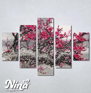 Slike na platnu Drvo roze cvet Nina234_5