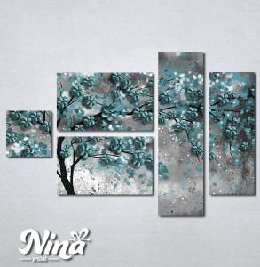 Slike na platnu Drvo tirkizno lišće Nina298_5