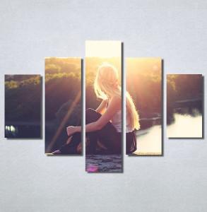 Slike na platnu Girl and sunset Nina30168_5