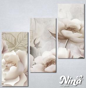 Slike na platnu Krem cvetna bajka Nina333_3