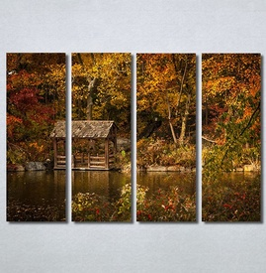 Slike na platnu Kuća na jezeru Nina30374_4