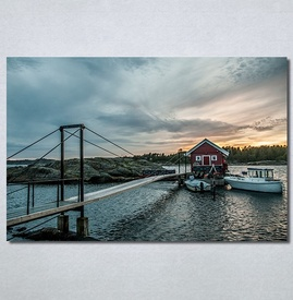 Slike na platnu Kuća na vodi Nina30356_P