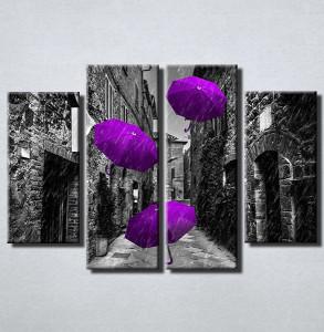 Slike na platnu Ljubicasti kisobran Nina211_4