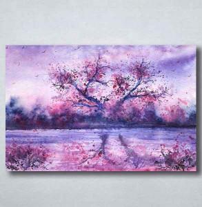 Slike na platnu Naslikano ljubičasto drvo_Nina094_P