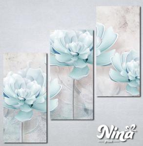 Slike na platnu Nežno plavi cvet Nina258_3