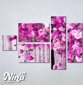 Slike na platnu Pink cvetovi Nina285_5