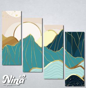 Slike na platnu Planina apstrakcija Nina321_4