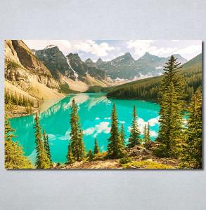 Slike na platnu Planina i jezero Nina30341_P