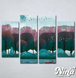 Slike na platnu Priroda apstrakcija Nina292_4