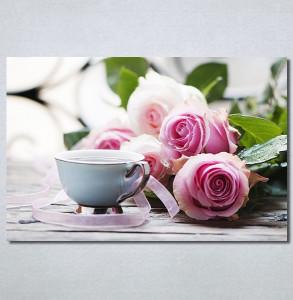 Slike na platnu Ruže i kafa Nina30343_P