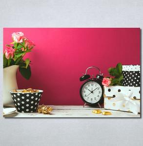 Slike na platnu Sat i ruže Nina 30347_P