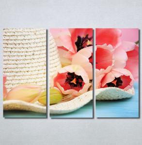 Slike na platnu Šešir i cveće Nina30299_3