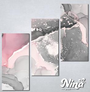 Slike na platnu Sivo roze apstrakcija Nina334_3