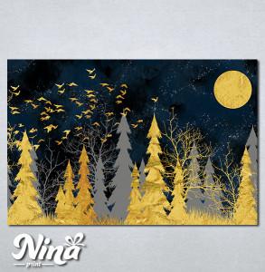 Slike na platnu Šuma apstraktno Nina289_P