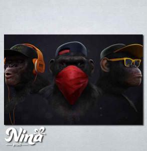 Slike na platnu Tri majmuna Nina255_P