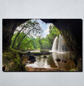 Slike na platnu Vodopad u steni Nina144_P