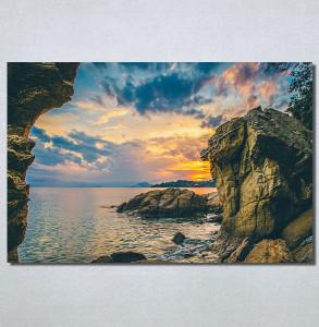 Slike na platnu Zalazak sunca i stene Nina30201_P