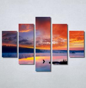 Slike na platnu Zalazak sunca na jezeru Nina30259_5