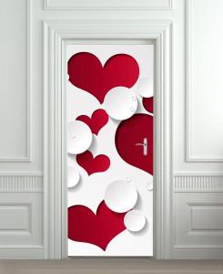 Nalepnica za vrata 3D Srce 6165