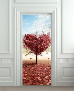 Nalepnica za vrata Drvo srce 6050