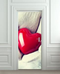 Nalepnica za vrata Heart 6018