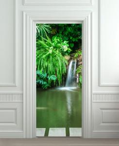 Nalepnica za vrata Priroda vodopad 6210