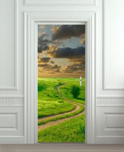 Nalepnica za vrata Put kroz ravnicu6146
