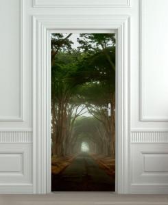 Nalepnica za vrata Put kroz šumu 6113