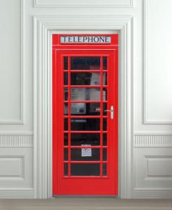 Nalepnica za vrata Telefonska govornica 6074