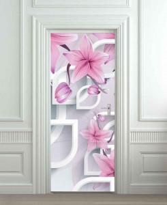 Nalepnica za vrata Ukrasni cvet 6190