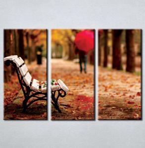 Slika na platnu Klupa u parku 3001_3