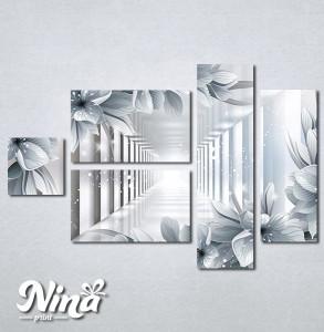 Slike na platnu 3d cvece Nina324_5