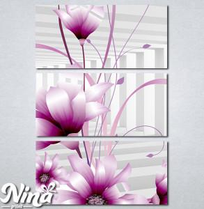Slike na platnu 3d Ljubicasti cvet Nina345_3