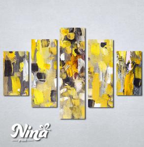 Slike na platnu Apstrakcija žuto Nina306_5