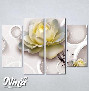 Slike na platnu Bež ruža Nina274_4