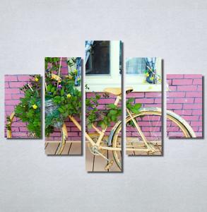 Slike na platnu Bicikl sa cvecem Nina30214_5