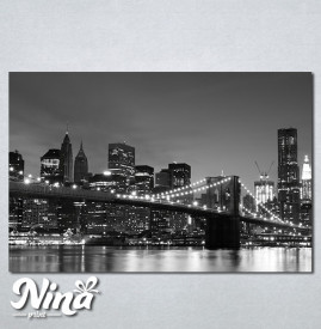 Slike na platnu Bruklinski most noću Nina281_P