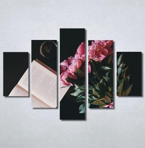 Slike na platnu Buket cveća i knjiga Nina30243_5