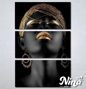 Slike na platnu Crnkinja crno zlatna slika Nina320_3