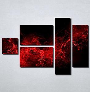 Slike na platnu Crno crvena apstrakcija Nina105_5