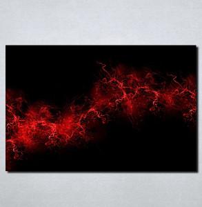 Slike na platnu Crno crvena apstrakcija Nina105_P
