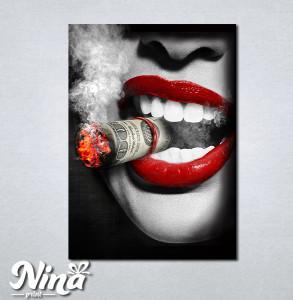 Slike na platnu Crvene usne i tompus Nina265_P