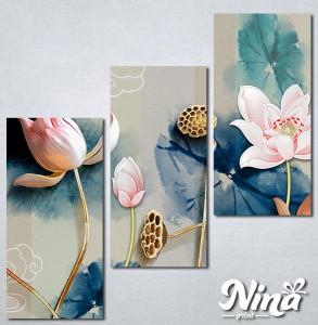 Slike na platnu Cvetna bajka Nina331_3