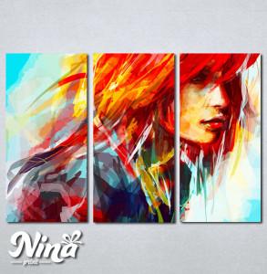 Slike na platnu Devojka boje art Nina253_3