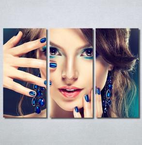 Slike na platnu Devojka sa plavim noktima Nina30364_3
