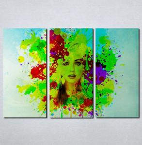 Slike na platnu Devojka u bojama Nina076_3